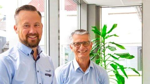 GLADE OPPKJØPERE: Administrerende direktør i Trainor, Stian Martinsen (til venstre) og styreleder i Trainor Group, Peter Svarrer, er fornøyd med å ha kjøpt sitt første selskap.