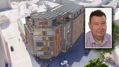 KORTREIST: Kommunestyremedlem og utvalgsmedlem Trond Ekstrøm (Frp) vil fremme forslag om bruk av lokalt treverk i fasaden på det nye Kristinakvarteret.