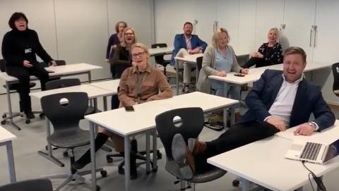 ROSER LÆRERNE: Kriseledelsen til Nesodden kommune gir ekstra ros til lærerne i disse dager. Derfor har man laget en egen video for å understreke det.