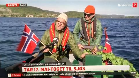 INTERVJUES: Her får Borge Bringsværd og Daniel Novello nasjonal oppmerksomhet på TV.