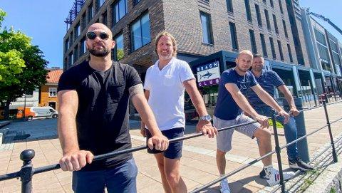 Osman Ersoy, Lars Gulbrandsen, Mads Rask og Tommy Josefsen er kvartetten som skal drive byens nye spise- og utested «Beach Club».