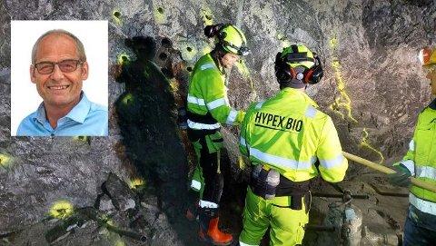 SATSER PÅ TYNSET: Tron Nytrøen (innfelt) er daglig leder i selskapet Hypex Bio Norge AS som nylig er etablert med tre medeiere på Tynset.