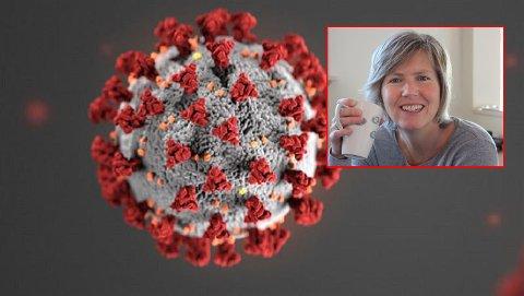 KORONAJAKT: Førsteamanuensis Mette Myrmel fra Ås bruker prøver av avløpsvannet til å spore koronavirus og påvise smitte i et område før noen personer er testet.