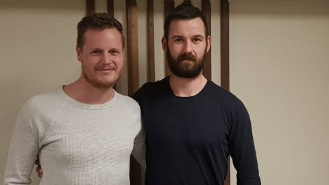Øyvind Maude Nedland og Dan-Christer Virak skal trener Hidra denne sesongen. Foto: Hidra FK