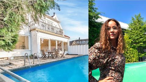 Julie Stensrud er ikke eiendomsmegler, men selger foreldrene sin bolig på Nordstrand.