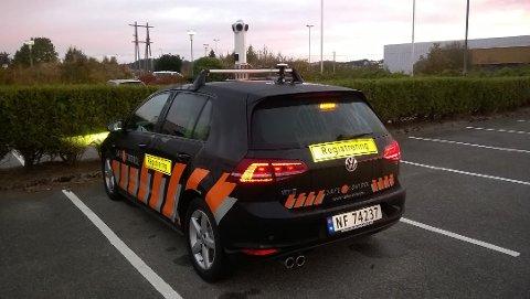 Denne bilen kjører rundt i Meland den neste tiden. (Foto: Safe control)
