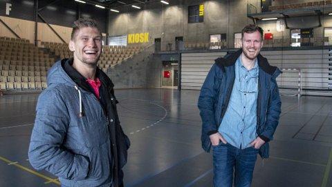 Både Alexander Jacobsen (t.v.) og Tim-Robin Lihaug er fra Hjelteryggen. (Foto: Eirik Hagesæter)