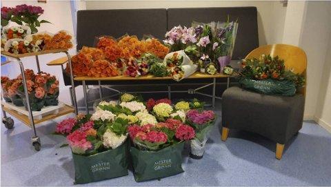 Betanien sykehjem og rehabilitering ble tirsdag overrasket med store mengder blomster.