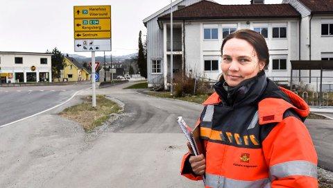 SNART KLART: I løpet av noen uker vil vi legge fram vårt forslag til ny trasse for rv. 35 mellom Hokksund og Åmot, sier prosjektleder Kari Floten i Statens vegvesen.