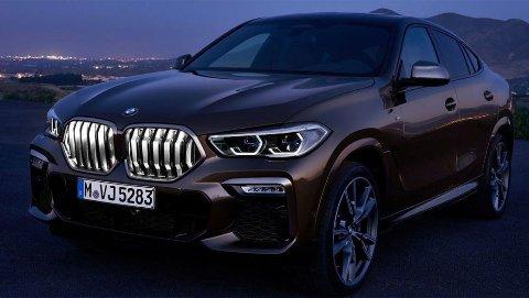Den helt nye BMW X6 leveres som den første bilen i verden, med belyst grill.