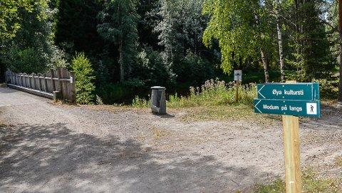 BEDRE TILGANG: Hovedutvalgsleder Ole Martin Kristiansen (V) ønsker bedre tilgang til turområdet Øya i Vikersund, ved at det oppmerkes gangfelt blant annet fra parkeringen ved Vikersund Nærsenter.