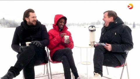 MYE LATTER: Første episode med Håkon Bass Mossige, Jonis Josef og Espen P.A Lervaag.