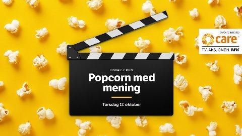 DET HVITE GULL: Nordkapp kino er med å støtte opp under TV-aksjonen 2019 hvor pengene fra popcornsalget går til CARE.