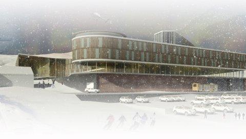 SLIK ER DRAUMEN: Bygget førestiller eit av hovudbygga i sentrum av Sogndal Fjellandsby i Hodlekve.