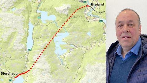 MYKJE STEIN: Prosjektleiar Svein Reidar Dale la torsdag fram det siste om Hafstadfjell-tunnelplanane. Han råda til å tenke på massebruken allereie no.
