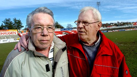 RADARPAR: Fotballegendene, Bjørn Borgen (til venstre) og Per Kristoffersen.