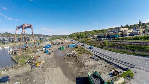 Viktig satsing: Rivingen er første trinn i  utbyggingen Ørebekk - Simo. Det er også starten for Bypakken som skal gjøre Fredrikstad til et mer attraktiv sted å etalbere bedrifter.