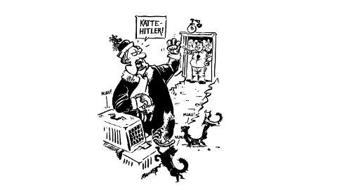 DA KATTEDAMEN ble kastet ut fra borettslaget på grunn av urinstank, sendte hun følgende karakteristikk til formannen i styret: – Katte-Hitler!