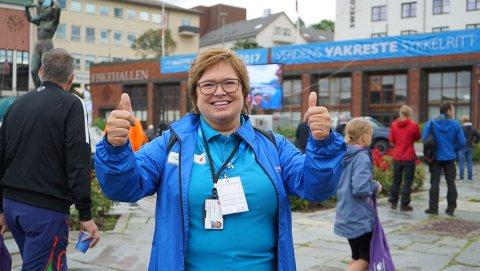 SENKER SKULDRENE: Prosjektleder for Arctic Race i Narvik, Iris Bartholsen, kan endelig senke skuldrene.