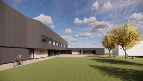 NY STORKONTRAKT: Consto Nord AS fikk sin andre kontrakt på Evenes flystasjon. Et nytt bygg for velferd, idrett og sykestue skal stå ferdig på Evenes flystasjon i 2022.
