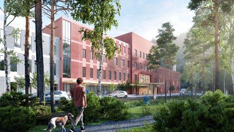 GIGANTPROSJEKT: Byggingen av det nye sykehuset på Furumoen er budsjettert til 2,7 milliarder kroner og skal stå ferdig i 2024.