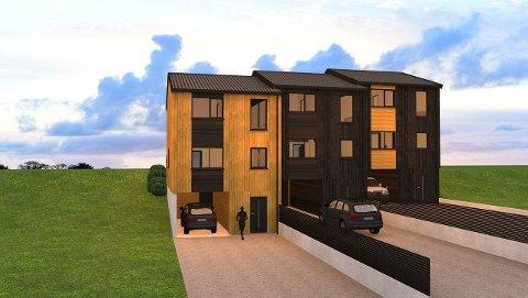 Nordbohus skal selge tre rekkehus med tre soverom i Slakthusbakken.