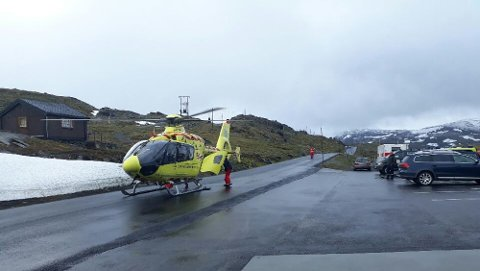 Luftambulansen fra Dombås ble utkalt for å bidra i søket etter 68-åringen.