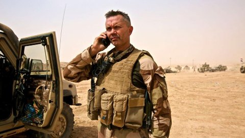 Terje Bruøygard har i flere år vært i avdelingen Telemark Bataljon, blant annet som sjef for avdelingen. Bildet er fra da han ledet Norges styrkebidrag i Irak i 2017-2018. Bruøygard har også ledet soldater i Afghanistan.