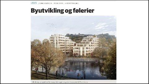 SKAPER DEBATT: Prosjektet til Trond Østby skaper debatt i Halden. Trond Enger mener det er trist når HA på lederplass kaller engasjement for føleri.