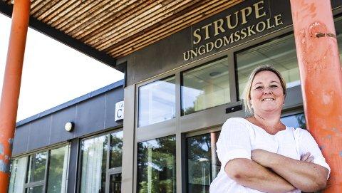 Gleder seg: Malin Pedersen gleder seg allerede til neste skoleår. Etter et rart og spesielt år føler hun at det er da rektorjobben ved Strupe ungdomsskole virkelig begynner.