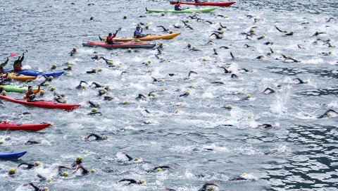 Populært: Det var stor konkurranse om dei 250 deltakarplassane til årets Norseman. Heile 3650 personar ønskte å delta.Arkivfoto: Ole Marius Kvamme