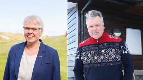 Ordførar i Suldal, Gerd Helen Bø (t.v) seier kommunen er positiv til å ta i mot Røldal. Talsperson i aksjonsgruppa, Jarle Sandal seier dei ser brevet frå ordføraren som eit godt utgangspunkt for vidare dialog.