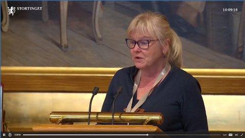 BA OM REVERSERING: Under stortingsmøtet torsdag sa Ingalill Olsen (Ap) at reformen er en flopp.