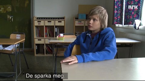 BRENNPUNKT: Mobbeofferet Arnar fortalte sin historie på NRK Brennpunkt tirsdag kceld.