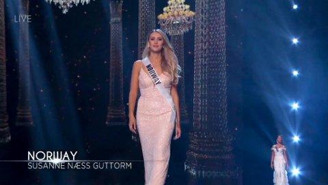 FRA KARASJOK: Susanne Næss Guttorm fra Karasjok er Norges representant under Miss Universe 2018 i Thailand. Torsdag var det såkalt preliminary competition (foreløpig konkurranse), mens selve finalen er søndag kveld norsk tid.