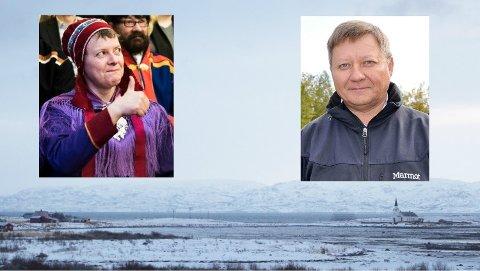 VENTER I SPENNING: Leder i Nesseby bygdelag, Gunn-Britt Retter, og FeFo-direktør Jan Olli er begge på plass i Oslo nå.