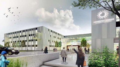 NYTT SYKEHUS: Slik kan et nytt sykehus i Hammerfest bli seende ut. Artikkelforfatter Frank Olaussen mener hele prosjektet må stoppes.