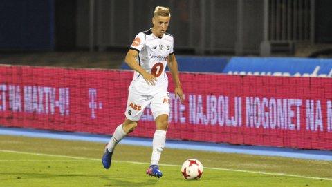 IMPONERTE: Thomas Grøgaard var én av Odds beste i Zagreb. Kragerø-gutten drømmer om å følge kompisen Fredrik Oldrup Jensen til utlandet, men først og fremst drømmer han om enda en runde i europaliga-kvalifiseringen.FOTO: KRISTIAN HOLTAN