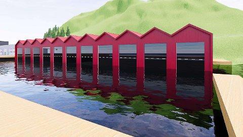ILLUSTRASJON: Dette er en skisse av småbåthavna, eller «proffhavna», som planlegges på Stilnestangen Nord.