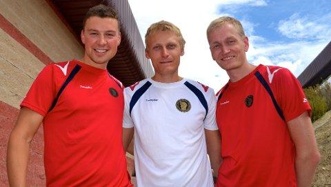 SKYTTERE MED SUKSESS. Fra venstre: Ole Kristian Bryhn, Kim Andre Aannestad Lund og Odd Arne Brekne.