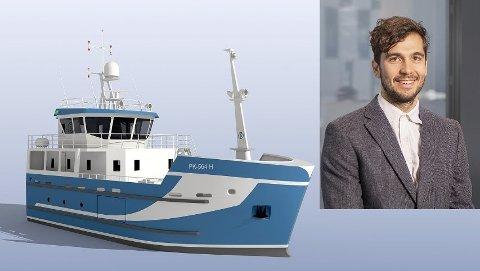 Hybridbåten som Stian Morel designer.