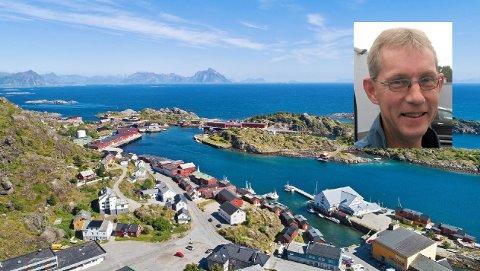 Brødrene Jan-Viggo (innfelt) og Benn Eidissen selger ytterligere tre rorbuer i Stamsund etter at salget av enheter i Burekka stoppet opp for seks-sju år siden.