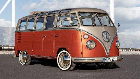 Dette er helt nye Volkswagen e-Bulli, som er en elektrisk utgave av klassikeren Transporter T1.
