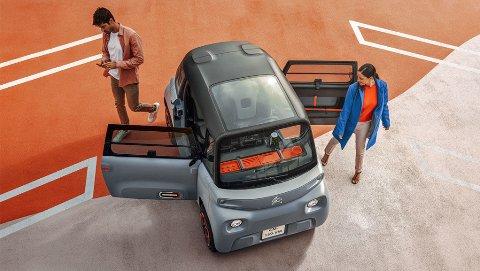 MIKRO-BIL: Dette er Citroën Ami. En helt ny elbil som skiller seg ut på de fleste områder.