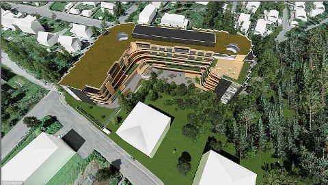 Illustrasjonsfoto fra mulighetsstudien for nye Lambertseterhjemmet.