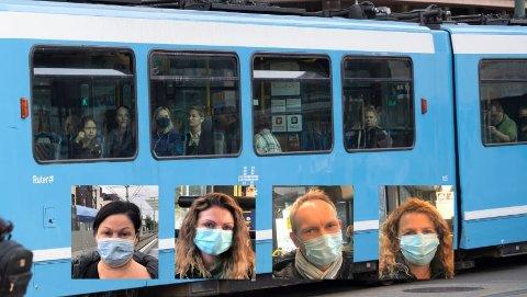 BRA TILTAK: De Nordstrands Blad snakket med tirsdag ettermiddag mente alle at et munnbind-påbud var på tide.