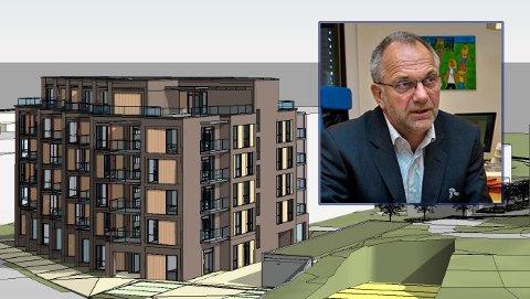 AUGUST: Dersom alt går etter planen, vil det bli salg av de første leilighetene i denne blokka i august.