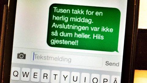 Denne tekstmeldingen er blant grunnene til at tre menn i Oslo tingrett er dømt for rasistisk vold. Illustrasjonsfoto