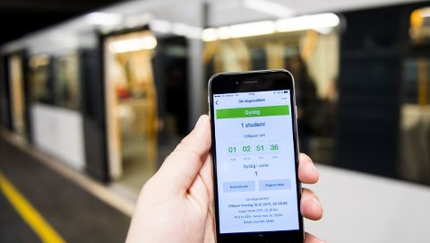 LÅNE BORT: Sigurd Skåre lagde en applikasjon som muliggjorde å låne bort billetter til venner når man selv ikke brukte dem.