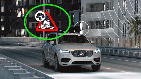 NY TEKNOLOGI: Volvo tester ut nyheten SRA (Slippery Road Alert) på biler i Norge og Sverige.